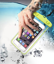 Mobile phone universal waterproof bag Swimming Bag Underwater Dry Bag Case Cover For Phone Water Sports Beach Pool Skiing 8 inch(China)