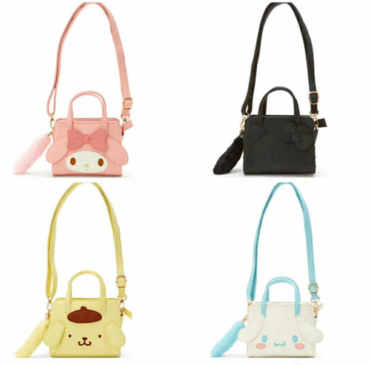 Cartoon Cute Hello Kitty My Melody Cinnamoroll PomPomPurin Handbag Women Crossbody Bag Children Shoulder Bags for Girls Gifts