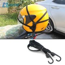 60cm correias do capacete da motocicleta acessórios da motocicleta ganchos bagagem retrátil corda elástica cinta fixa moto capacete bagagem net