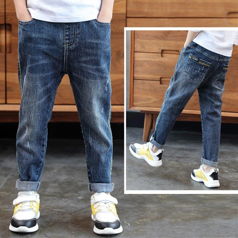 ienens 4 13 anos roupas de meninos magro calcas de brim retas classico criancas calcas de