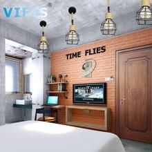 E27 Retro Ceiling Light Iron Square Wall Lamp Cozy Decor for Bed Room Corridor Dining  Black Loft 110V 220V with Hemp Rope