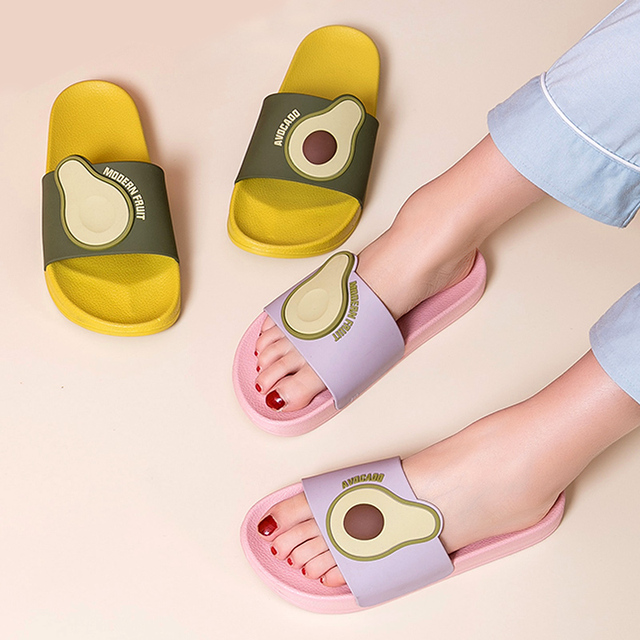 Women Summer Avocado Slippers