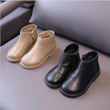 Children's leather boots autumn/winter 2021new children's boots Korean version girls' Martin boots contracted British style ank