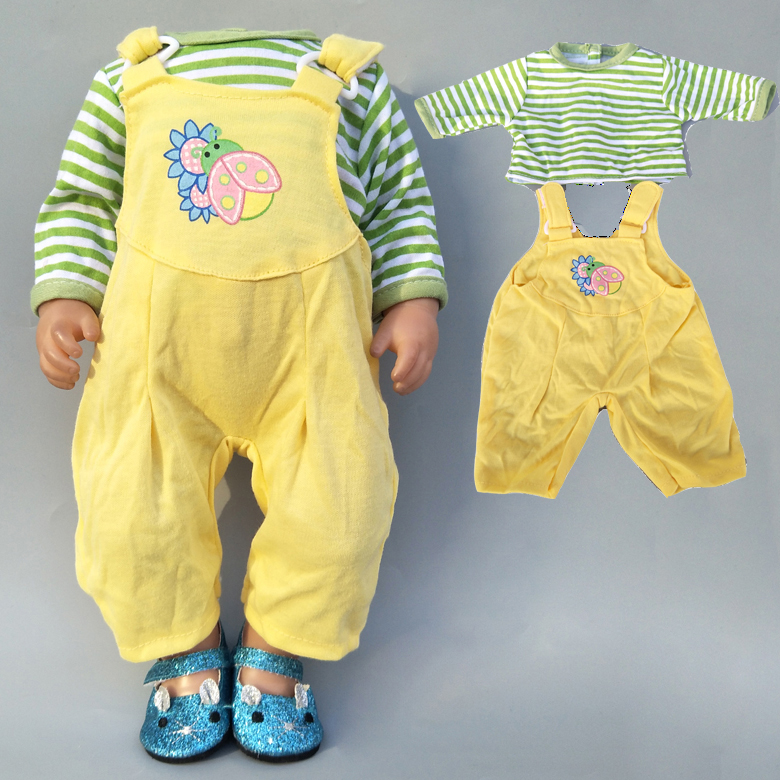 43cm Baby Bona Doll Rompers Outfit For 17 Inch New Born Baby Doll Clothes Suit For Toy Wear 18 Inch Girl Doll Clothes