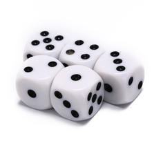 Playing-Games Dice-Set Drinking-Dice RPG Party-Table White Hexahedron Club Round-Corner