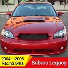 Использование для Subaru Legacy Racing Grills 2004 05 06 год углеродное волокно Refitt Передняя Центральная гоночная решетка крышка аксессуары