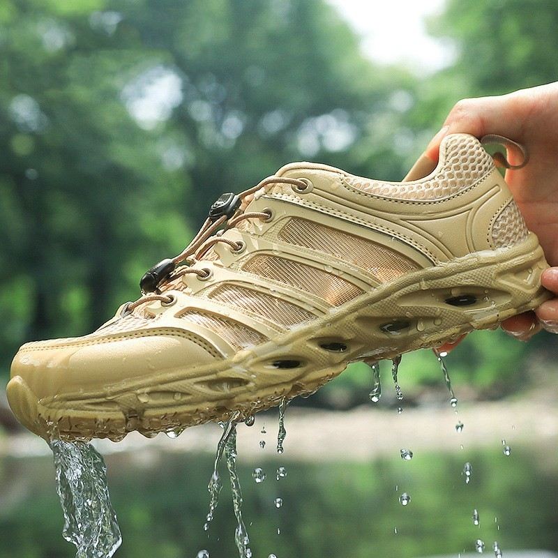 Outdoor Fast Dry Waterproof Wading Shoes Ultra Light Non-slip Water Sports Shoes Summer Hiking Mesh Breathable Fishing Aqua Shoe