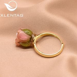Image 2 - XlentAg 925 Sterling Silver Natural Pearl Adjustable Really Flower Ring For Women Daughter Gift Fine Jewellery Anillos GR0225