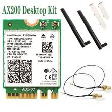 Wifi-Adapter Dual-Band Desktop Bluetooth 5.1 Intel Ax200 Wi-Fi 6 Wireless 2974mbps