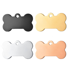 Stainless Steel Dog Bone Tag40*21mm/5*28mm/36*22mm Blank Metal Pendant for Engraving Pet ID Gold/Rose Gold/Black Color 10pcs