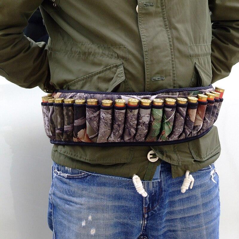2019 Outdoor Camouflage Hunting Bullet Pockets 27 Round Hunting Shooting Belt Bag Crossbody Bag