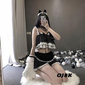 Image 3 - Lolita uniforme chat mignon pour fille, uniforme de Lingerie transparente pour écolière femmes, Costumes Cosplay diable, tenue de sous vêtements Anime