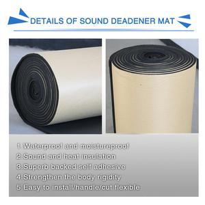 Image 3 - X AUTOHAUX 3mm/5mm/8mm/10mm עובי רכב קליטת קול רעש חום הגהה בידוד תא קצף כותנה Deadener Mat