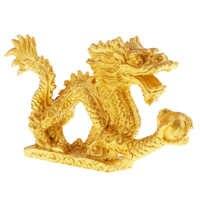 Chinesische Feng Shui Drache Statue Skulptur Tier Ornament Hause Eingerichtet Gewinnen Reichtum & Gute Luck Geschenke