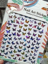 Стикеры 3d на ногти nail art самоклеящаяся наклейка бабочка