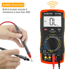 BTMETER BT-770M Digital Multimeter True RMS Auto Manual Ranging Multimeter Tester for AC DC Amp Ohm Volt NCV,6000 Counts uni t ut71 series digital multimeter ture rms ac dc meter volt ampere ohm capacitance temp tester 40000 counts 0 025% accuracy