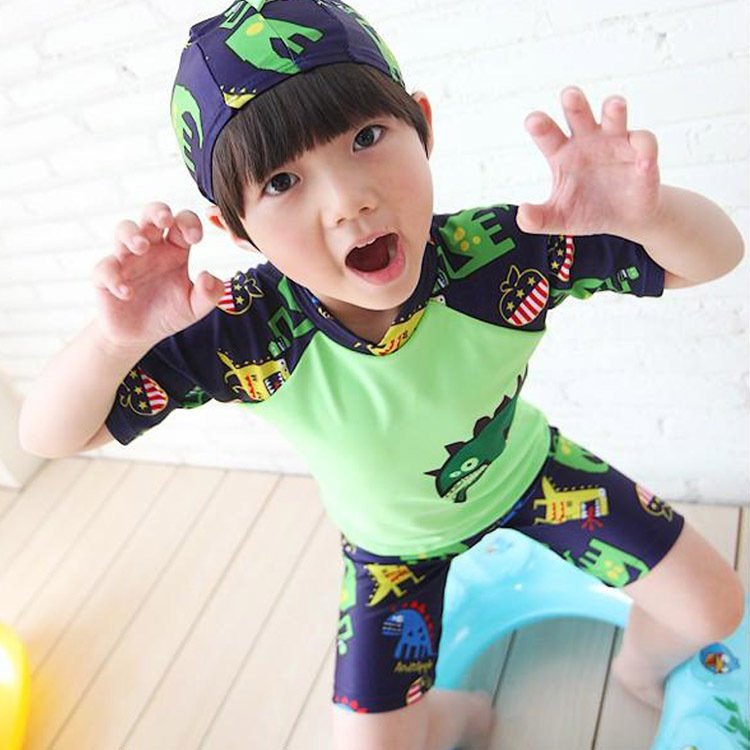 2-13-Year-Old KID'S Swimwear Korean-style Boxer Split Type BOY'S Infants Tour Bathing Suit Dinosaur Swimming Trunks