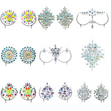 Hot Crystal Bra Stickers Invisible Self Adhesive Silicone Breast Chest Nipple Cover Bra Pad Petal Mat Stickers Accessories(China)