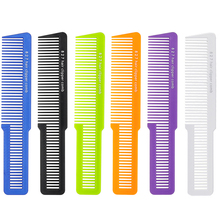 цена на Professional Salon Men Clipper Hair Cut Comb Carbon Barber Hair Comb For Hair Trimming Hairdresser Comb T-827 5 Colors Available