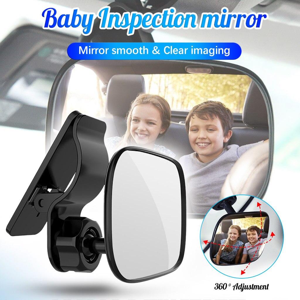 Регулируемое детское автомобильное зеркало, вид на заднее сиденье автомобиля, внутреннее зеркало для ребенка, монитор для заднего сиденья