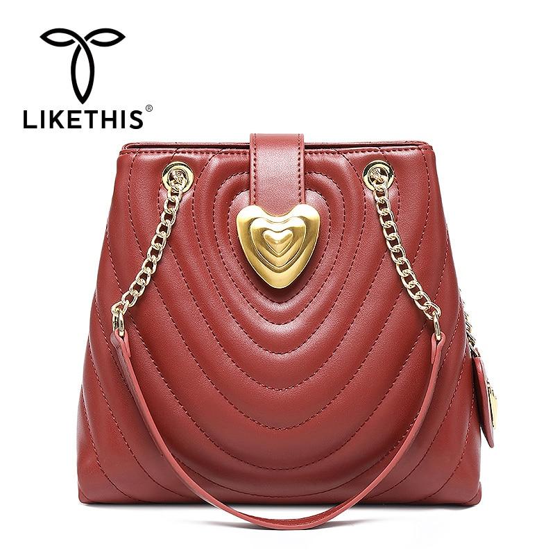 LIKETHIS Crossbody Bags Women 2019 Handbag Fashion Hanging Ornament Shoulder Messenger Bag Lady Chain Design Luxury High Quality