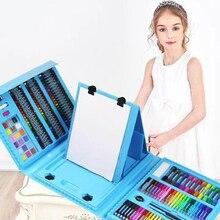 Juego de pinceles de pintura con Graffiti para niños, 176 Uds., juguete de entretenimiento diario, juegos de arte con caballete, regalo para niños