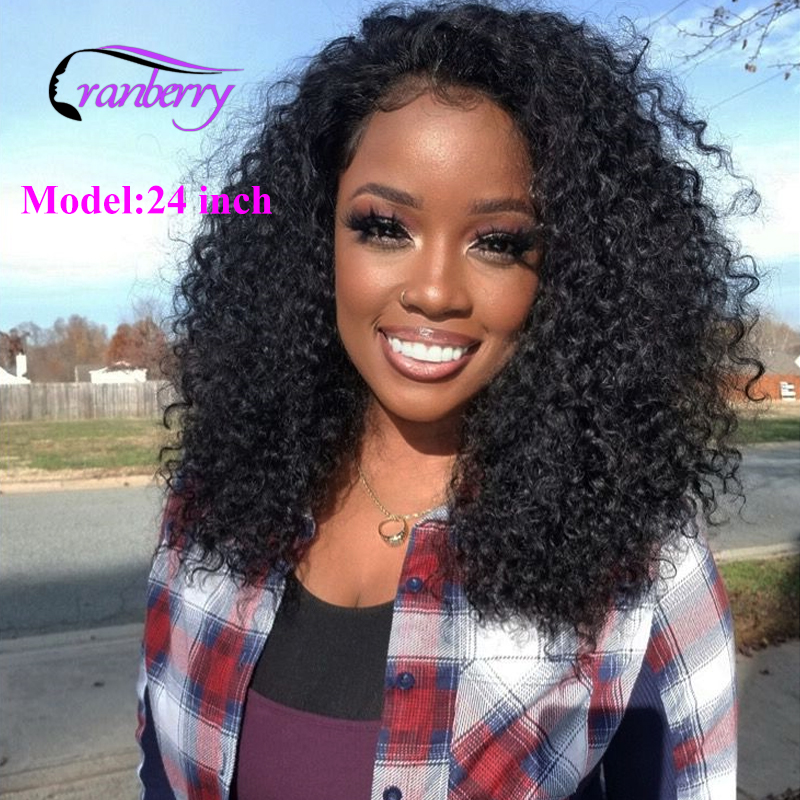 Cranberry  Malaysian Remy Wig Curly Human Hair Wig Pre Plucked 13X4 13X6 Lace Front Human Hair Wigs For Black Women 150% Density