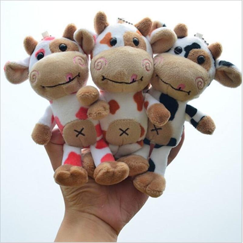 1Pcs Symbol Of 2021 Toys Cartoon Calf Pendant Stuffed Toys Cow Doll Plush Toy Small Doll Ragdoll Ornament17CM