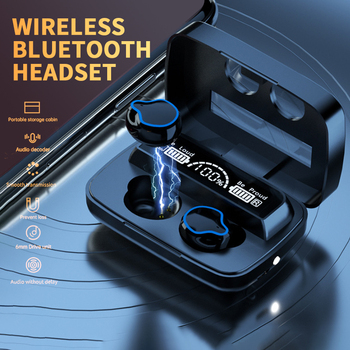 TWS M9 Wireless Bluetooth Headphone Stereo Sport Wireless Earphones Touch Bluetooth 5.1 Mini Earbud Bass Headset with 2000mAh image