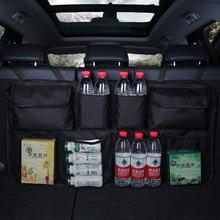 Автомобильная Задняя сумка для хранения на спинку сиденья мульти Висячие сетки карман сумка-Органайзер для багажника Авто Укладка уборки аксессуары для интерьера