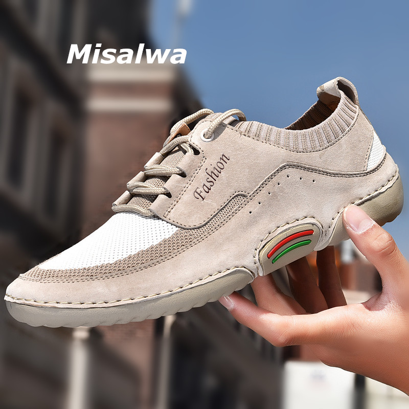 Men Brogues Summer Smart Casual Formal Shoes Mesh Knitted Sneakers Driving shoes