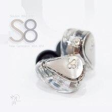 Moondrop S8 الجيل الجديد 8BA في الأذن رصد سماعة