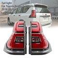Auto Styling Schwanz Lampe DRL Signal Bremse Reverse auto Zubehör Für Toyota Prado Rückleuchten 2018-2020 Prado LC150 LED
