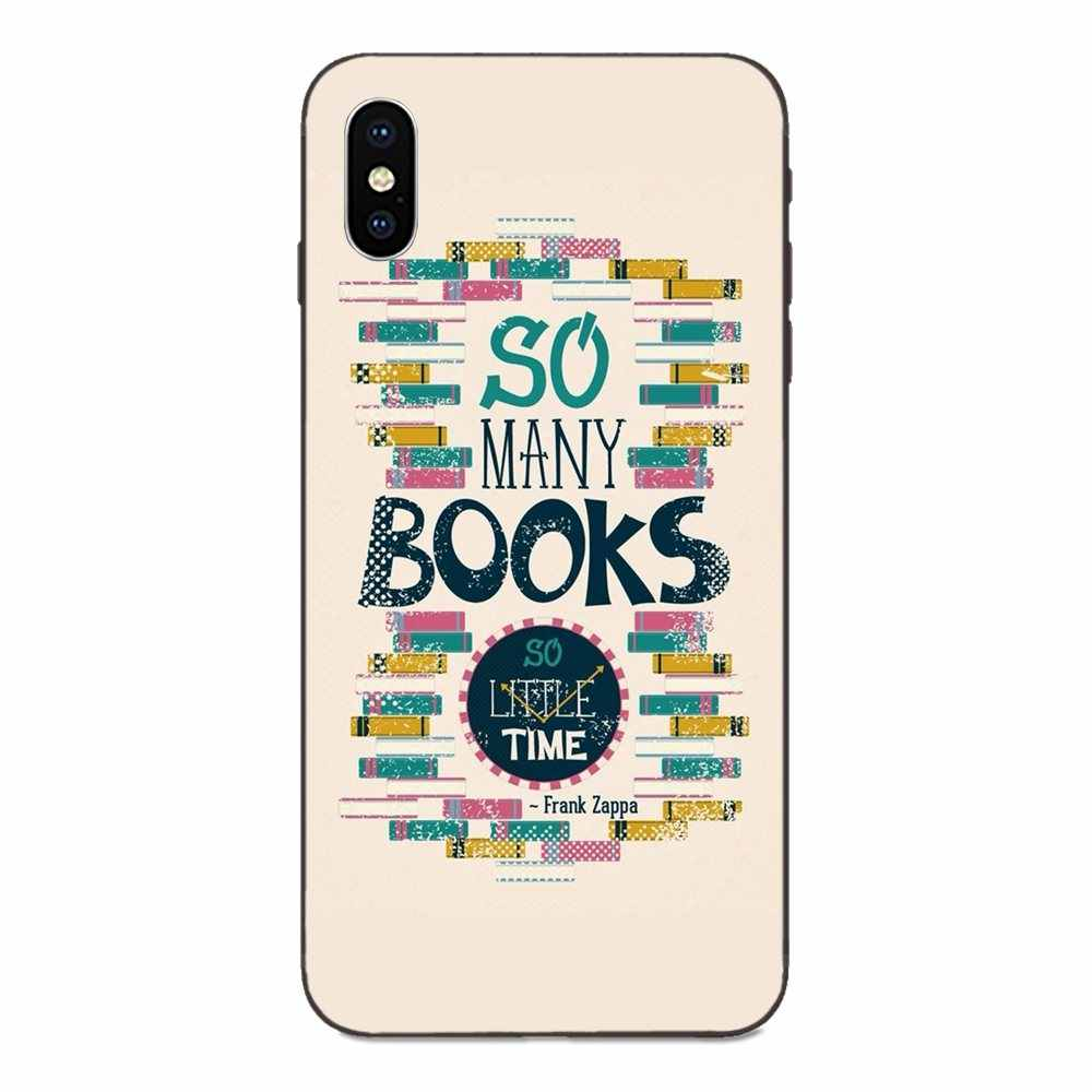 Minimalist Book Love Table Lamp For Apple iPhone X XS Max XR 4 4S 5 5S SE 6 6S 7 8 Plus Soft Mobile Phone Cases