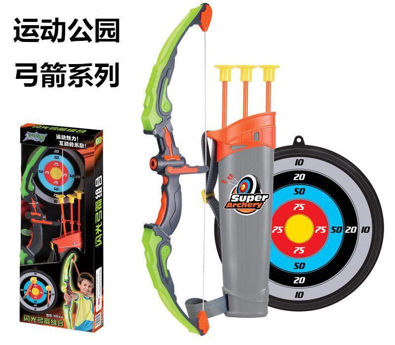 Jouet de sport enfants tir ventouse veilleuse arc et flèche assemblé jouets cible parc extérieur
