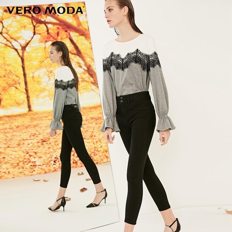 Vero Moda 2019 New Arrivals Women's Push-up Yoke Slim Fit Jeans | 318349556