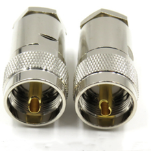 Plug-Clamp Cable LMR195 Adaptor UHF 1pce-Connector PL259 RG142 RG400 RG58 Male Straight