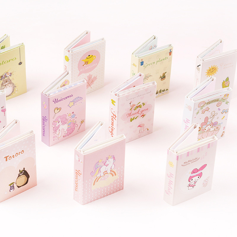 120Sheets Kawaii Sticky Notes Cute Unicorn Memo Pads Foldable Pads For Kid Girls Gifts School Office Supplies Novelty Stationery