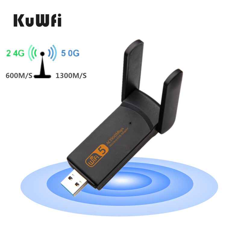 1900Mbps/1200Mbps USB WiFi Adapter 5GHZ USB3.0 WI-FI Adapter Dual Band Wifi Antenna Wireless Receiver for Desktop Laptop title=