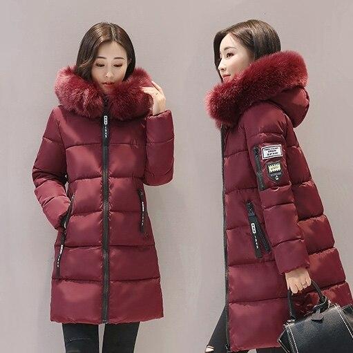 2020 nouveau Parka femmes hiver manteaux femmes Long coton décontracté fourrure à capuche vestes chaud Parkas femme pardessus manteau livraison gratuite 5