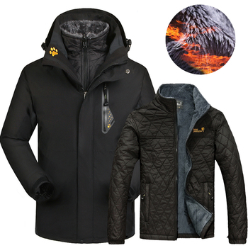 2020 Winter Ski jacket Men Women Outdoor Waterproof Thermal 2 in 1 Skiing And Snowboarding Jackets Plus Size Snow Female Coats wild snow lady winter outdoor skiing jackets waterproof warmer snowboarding jackets ski suit clothes female hiking coats