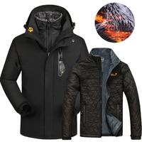2020 Winter Ski jacket Men Women Outdoor Waterproof Thermal 2 in 1 Skiing And Snowboarding Jackets Plus Size Snow Female Coats