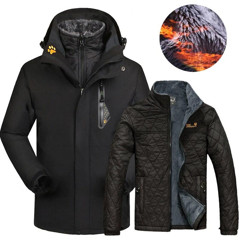 Jaqueta de Esqui Inverno para Mulheres dos Homens ao ar Livre à Prova Esqui e Snowboard 2 em 1 Dwaterproof Água Térmica Jaquetas Tamanho Grande Neve Cabolsas Femininos 2020