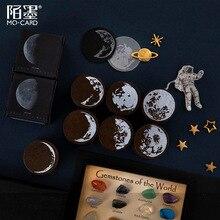 Серия Planet Moon мини милые деревянные и резиновые штампы Diy Дневник набор штампов для Diy Ремесло карта делая планировщик для скрапбукинга