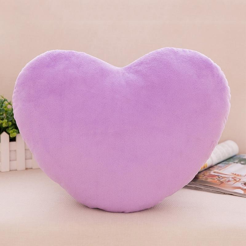 20cm Heart Shape Decorative Throw Pillow PP Cotton Soft Creative Doll Lover Gift