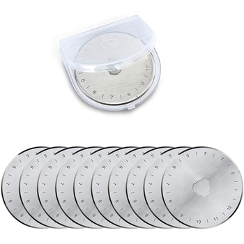 Rotary Cutter Replacement Blades 45mm, Fits Olfa, Fiskars, Martelli, Clover & Truecut 20 Pack image