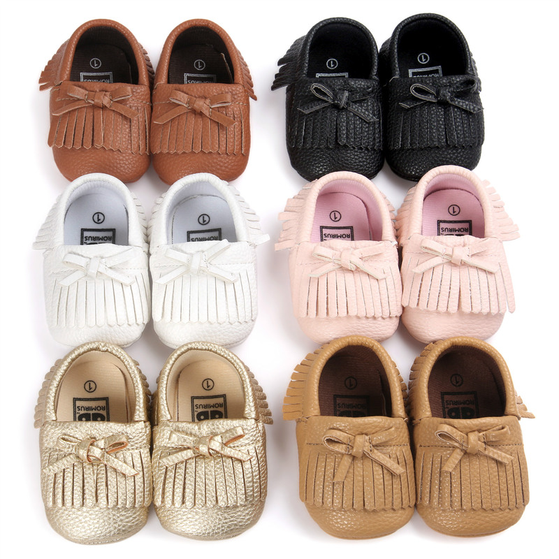 Baby Shoes Toddler Newborn Tassels Bowknot 0-2 Years Boy Girl Infant Cotton Soft Sole Non-slip First Walker Crib Shoes Moccasins