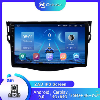 With 360° Camera 10 Car DVD Radio Multimedia Player For Toyota RAV4 2007-2011 RDS FM GPS Navigation Stereo Autoradio No 2 din image