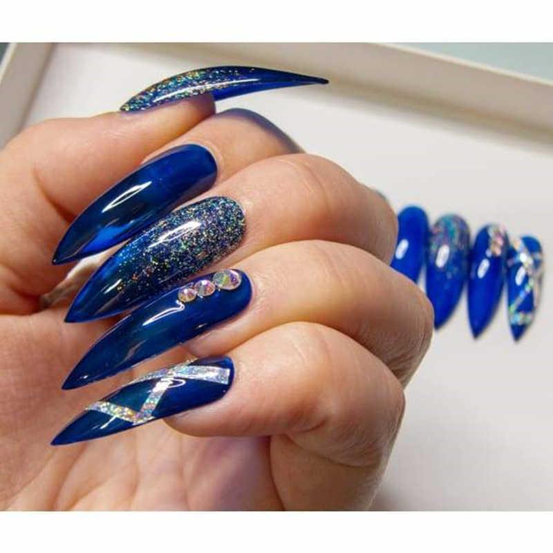 Lamemoria 500 шт./OPP накладные ногти на шпильках, акриловые ногти для дизайна ногтей, натуральные накладные острые концы, длинные ногти для самостоятельного маникюра, для женщин, Прямая поставка