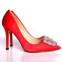 2021 nuevo de diamantes de imitación zapatos de tacón alto de seda Superior 6cm o 8cm o 10cm de zapatos de tacones de aguja de las mujeres zapatos de fiesta de boda
